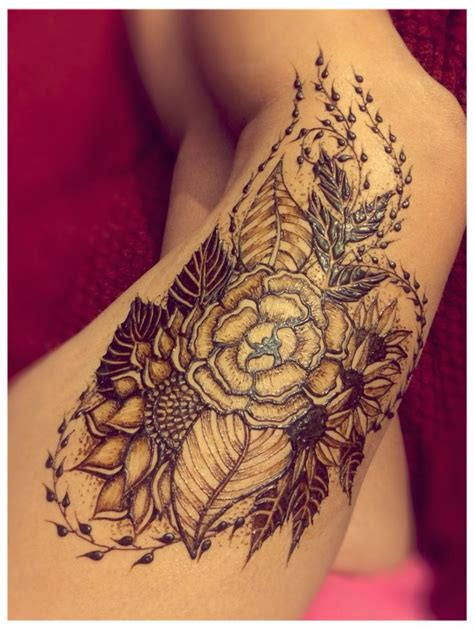 henna tattoo design pinterest 1000 ideas about thigh henna on henna thigh