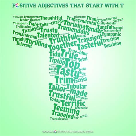 5 Letter Words Starting With T 50 best positive adjectives positive descriptive words