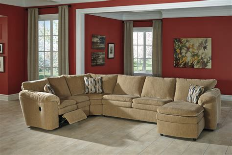 sectional sofa with sleeper and recliner buy ashley furniture coats dune reclining sectional with