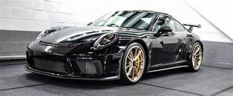 Wheels Porsche Gt Hitam Black jet black 2018 porsche 911 gt3 with satin white gold wheels is a winning bid autoevolution
