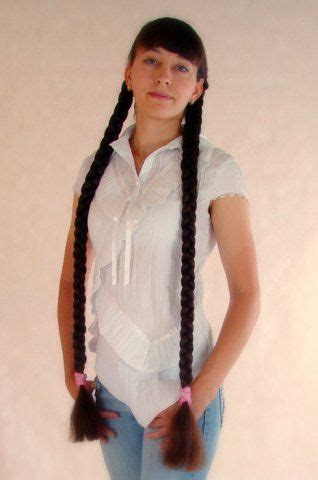 elegant hairstyle twin thick shiny long braids pictures