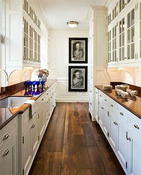 narrow galley kitchen ideas galley style kitchen design ideas
