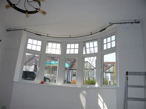 bradleys 25mm ceiling fix bay window curtain pole and