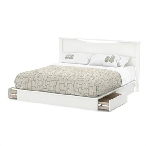 south shore step one platform bed south shore step one king platform bed with headboard and