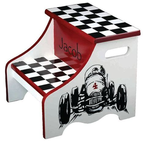 step stool for car 2 step painted race car step stool