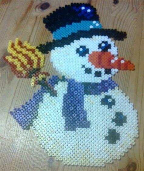hama snowman snowman hama perler by susanne damg 229 rd s 248 rensen