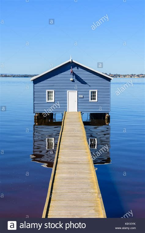 blue boat house swan river blue boat shed perth stock photos blue boat shed perth