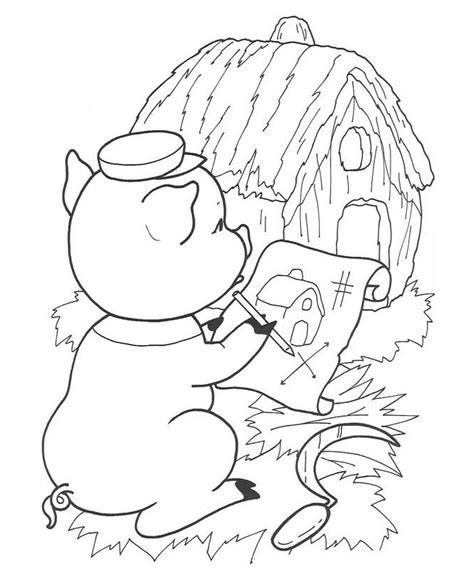 stick house coloring page 3 little pigs stick house coloring pages coloring pages