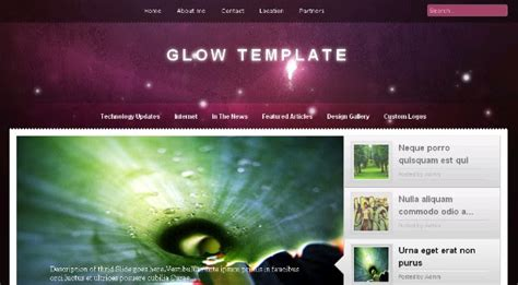 6 best free blogger templates with jquery content slider