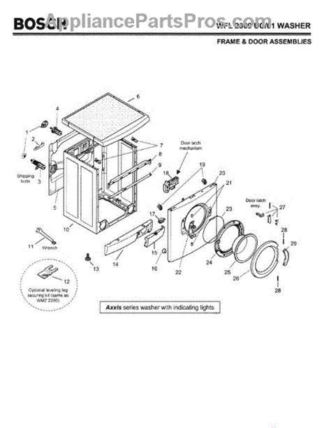 bosch dryer parts diagram bosch 11020392 window appliancepartspros