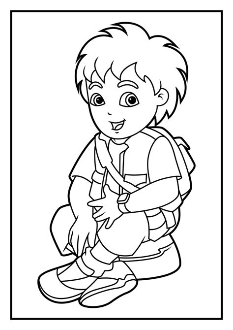 dora and diego coloring page scientific adventures of diego 20 diego coloring pages