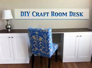 Diy Craft Desk With Storage Diy Craft Room Desk Let S Get Crafty