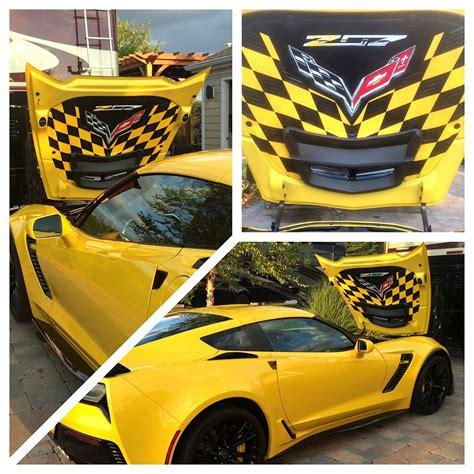 c5 corvette hoods custom c7 corvette z06 custom airbrushed liner z07 style