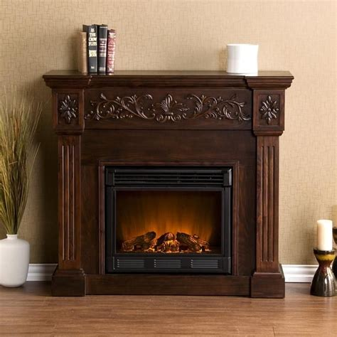 Fashioned Fireplaces by Wellington Espresso Electric Fireplace