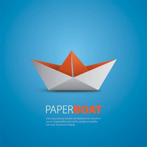 origami boat logo paper boat vector free download