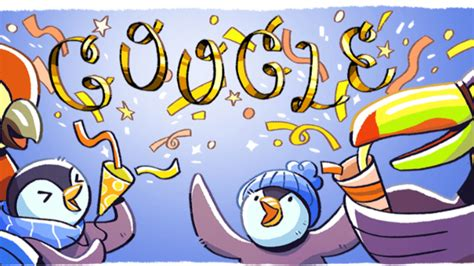 titus doodle contest 2014 new year s 2017 doodle brings back penguins for
