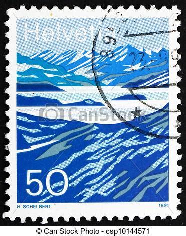 Porto Schweiz Brief B4 bilder porto briefmarke schweiz 1991 berg seen