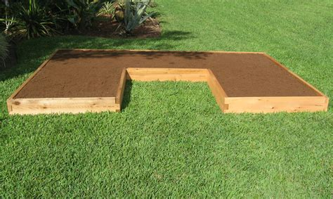 shaped raised garden bed cedar bed gardeninminutes