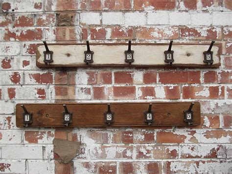 row of five factory hooks by woods vintage home interiors
