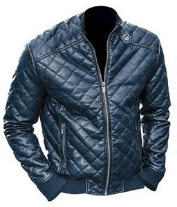 leather skin black quilted leather jacket on