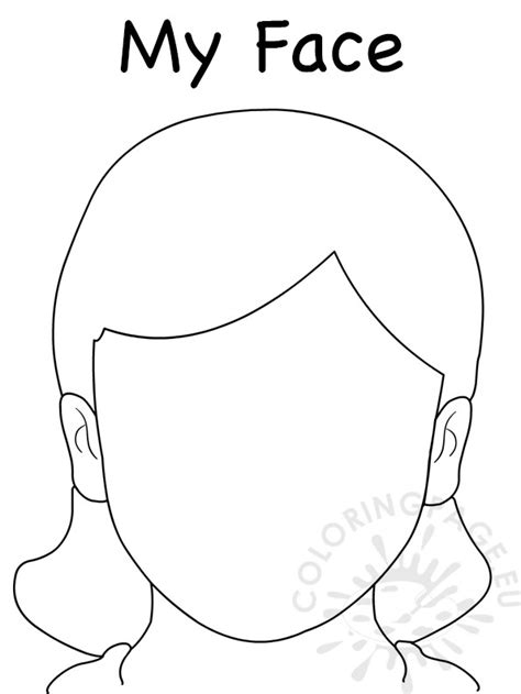 girl template coloring page face blank girl template coloring page