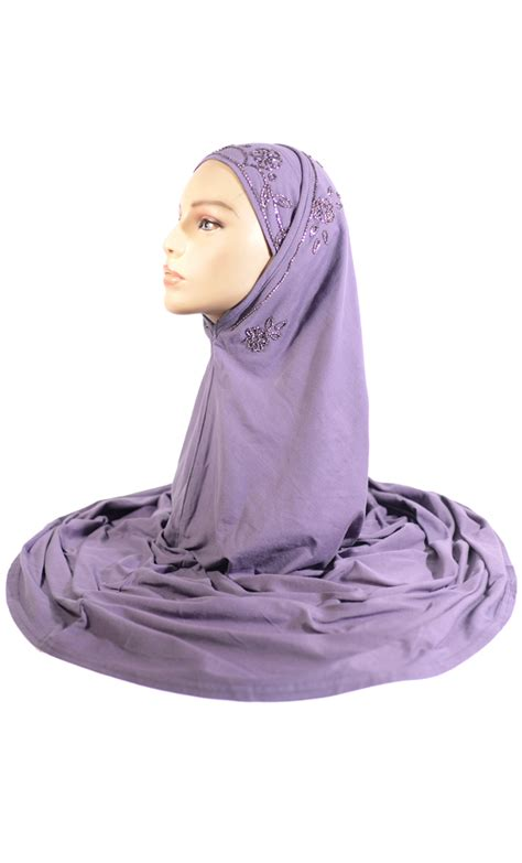 purple sequin al amirah