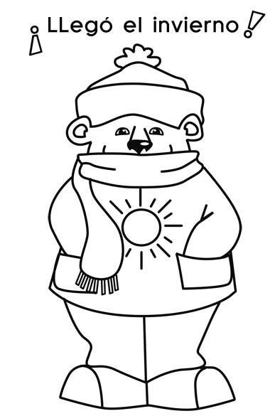 imagenes infantiles invierno para imprimir bujos y dibujos imagen de llego el invierno