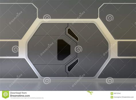 futuristic doors futuristic door stock illustration image 58272342