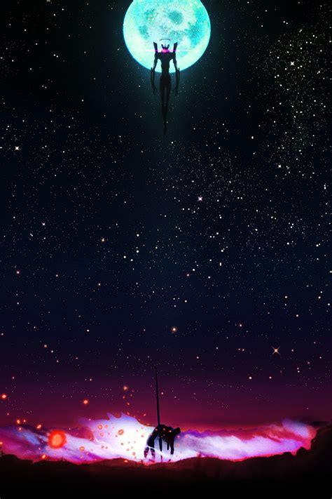 freeios neon genesis night evangelion parallax hd