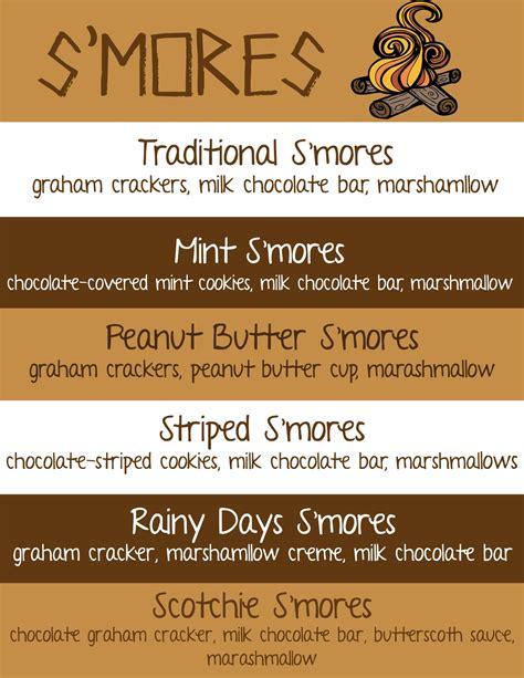 printable bar recipes mommy and things s mores bar and free recipe printable