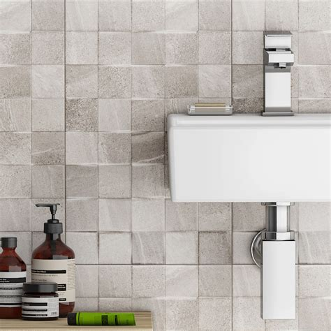 grey mosaic bathroom bathroom tiles wall m9161 316mm x 480mm taupeglass mosaic