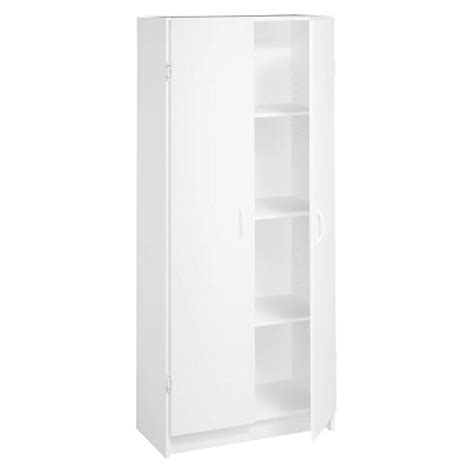 White Pantry Cupboard by Closetmaid Pantry Cabinet White Target