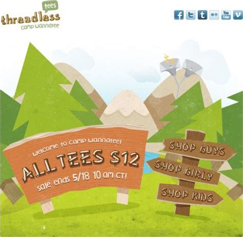 Threadless 10 Sale by Threadless Summer Sale Gets Underway All Shirts 12 00 T