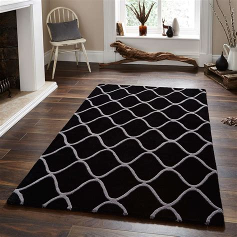 grey and black rugs duo tone quatrefoil handmade wool rug in black and grey