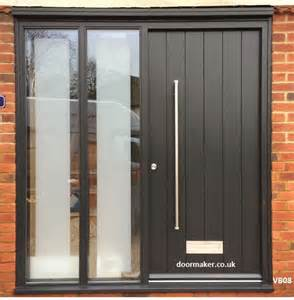 Contemporary Front Doors With Sidelights Contemporary Grey Door With Sidelights Doors Grey Doors Doors And Contemporary