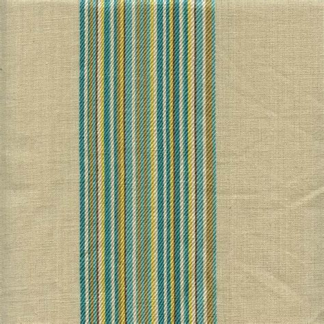 striped linen upholstery fabric saint germain turquoise blue green striped linen blend
