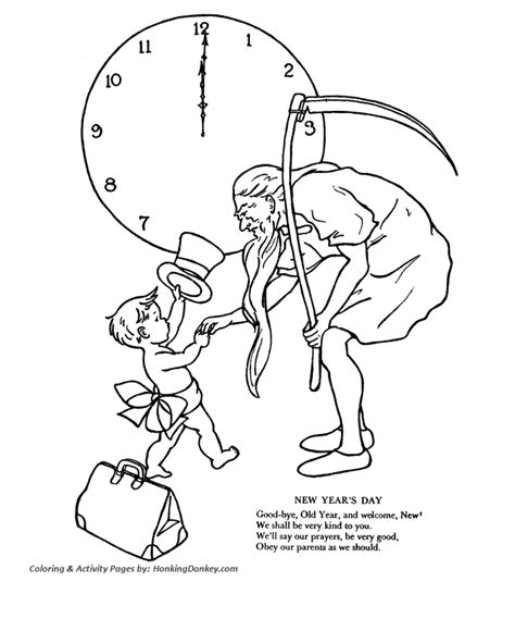 new year baby coloring page new year s day coloring pages father time and new year