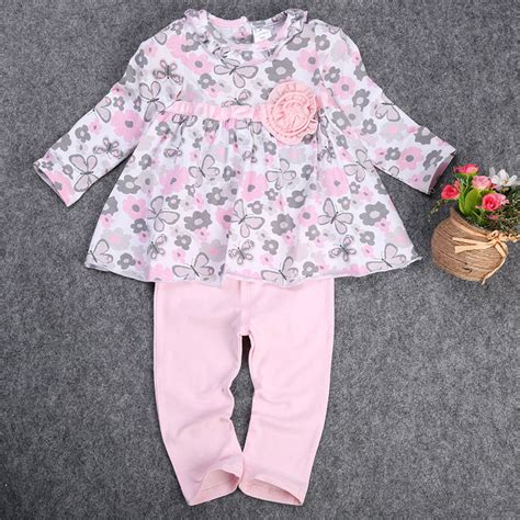 Set Peplum Kid princess dress 2pcs baby kid clothing set newborn t shirt floral peplum dress