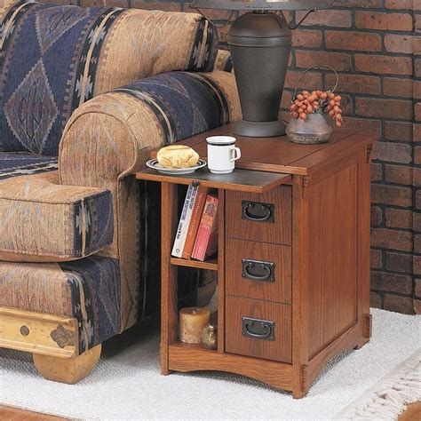 Living Room Magazine Storage Powell Furniture Mission Oak Magazine Rack Cabinet 356