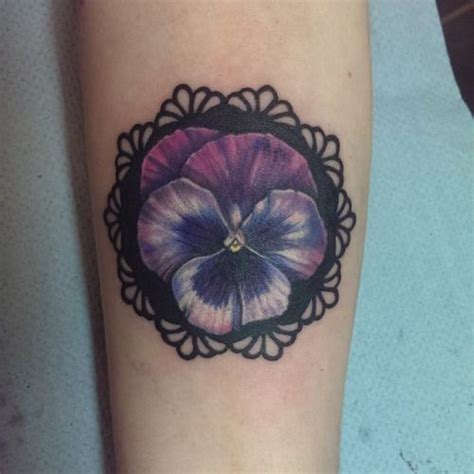 pansy tattoo 26 best images about lace tattoos on lace