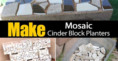how to make planters how to make mosaic cinder block planters