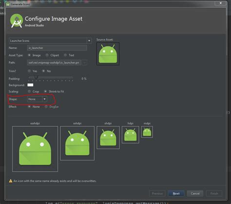 android icon generator android studio image asset launcher icon background color