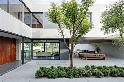 house with courtyard steel concrete and stone home with central courtyard