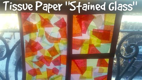 How To Make Paper Windows - easy craft ideas how to make stained glass with tissue