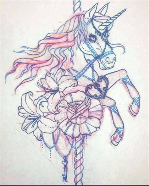 carousel horse tattoo designs carousel unicorn search new ideas