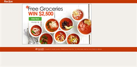 Grocery Sweepstakes - recipe com sweepsgrocery recipe com 2 500 grocery sweepstakes