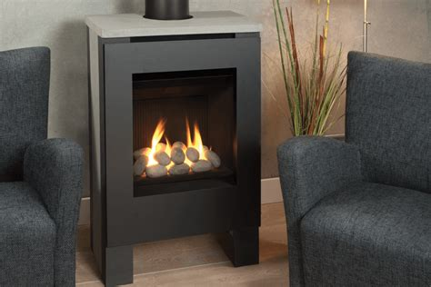 Shallow Gas Fireplace by Valor Lift Freestanding Chimneys Plus