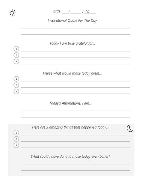 Adapted Five Minute Journal Template Pdf Beautiful Life Apps 5 Minute Journal Template