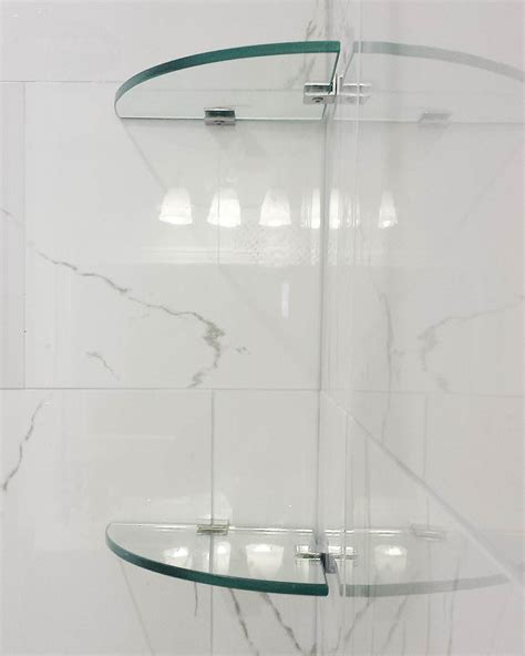 Bathroom Glass Corner Shelves Shower by 24 Bathroom Glass Shelves Designs Ideas Design Trends