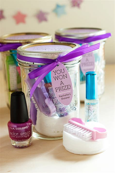 inexpensive baby shower prizes pedicure in a jar evermine occasions